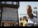 العرب اليوم - شاهد  اجراءات أمنية مشددة على شاطئ المهدية