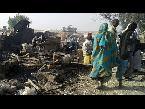 العرب اليوم - شاهد  عشرات القتلى في قصف جوي ضد مخيم للنازحين