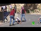 العرب اليوم - بالفيديو مواجهات بين متظاهرين فلسطينيين والجيش الإسـرائيلي في مدينة الخليل