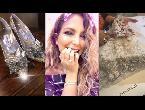بيبي عبد المحسن تكشف عن فخامة فستان زفافها وكعب سندرلا
