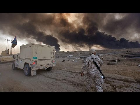 بالفيديو  غازات سامة في محيط الموصل والقوات العراقية تواصل مطاردة عناصر داعش