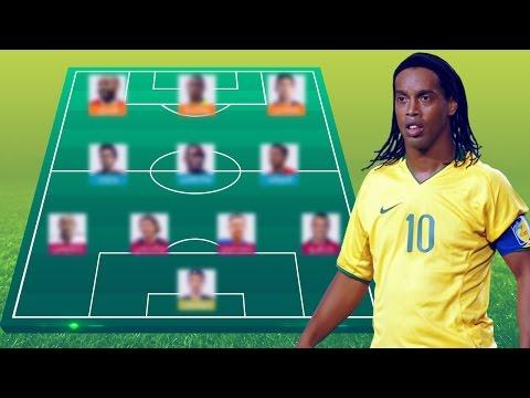 العرب اليوم - بالفيديو رونالدينيو يختار أفضل تشكيلة مكونة من 11 لاعبًا في تاريخ دوري أبطال أوروبا