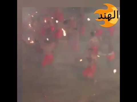 العرب اليوم - مشاجرة بالنيران في الهند