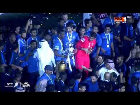 العرب اليوم - شاهد احتفالات فريق الهلال بالتتويج في دوري جميل للمحترفين