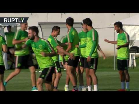 العرب اليوم - شاهد تدريبات المكسيك استعدادًا لمواجهة ألمانيا