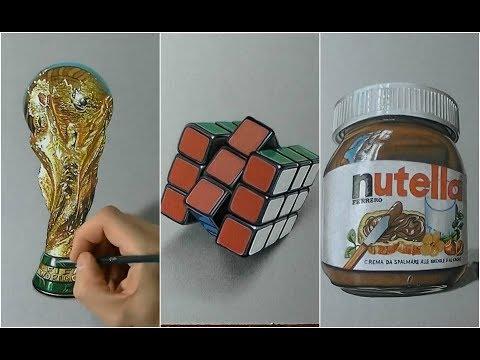 العرب اليوم - شاهد فنان ايطالي يبدع في الرسم الواقعي لأشياء تبدو وكأنها حقيقية