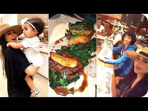 العرب اليوم - لجين عمران ومهيرة عبد العزيز يعزمون الخدم على لحم الغزال