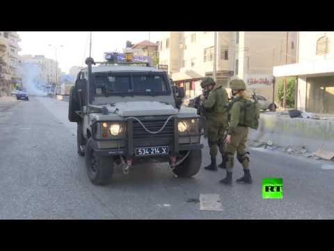 العرب اليوم - شاهد الجيش الإسرائيلي يستخدم الغاز المسيل للدموع ضد المتظاهرين