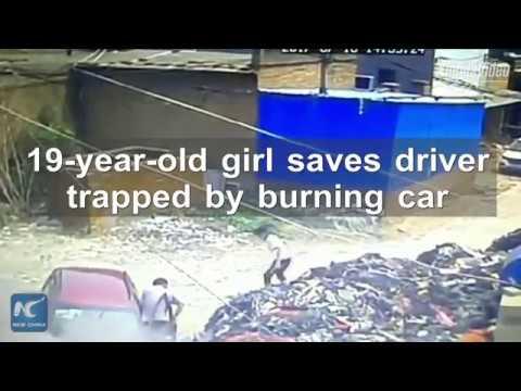العرب اليوم - شجاعة فتاة تنقذ قائد سيارة من الموت بأعجوبة