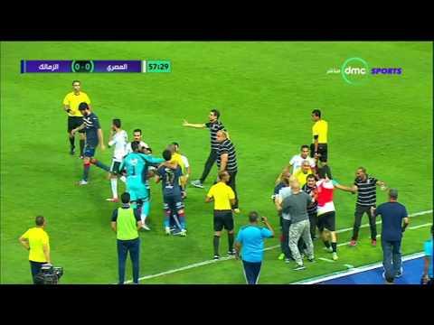 العرب اليوم - اشتباك بين لاعبي الزمالك والمصري