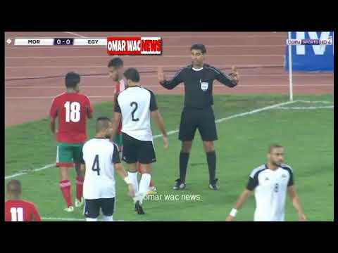 العرب اليوم - مراوغة نجم المغرب محمد أوناجم الرائعة للاعب منتخب مصر
