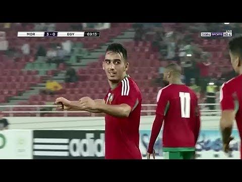 العرب اليوم - هدف المنتخب المغربي الثالث في مرمى مصر