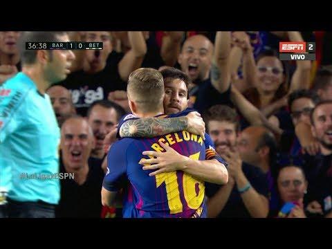 برشلونة يكتفي بهدفين في مرمى ريال بيتيتس
