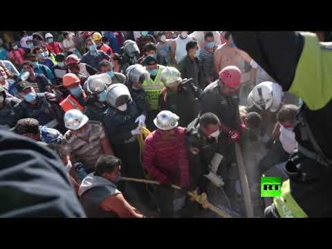 العرب اليوم - شاهد مشاهد مروّعة من زلزال المكسيك المدّمر