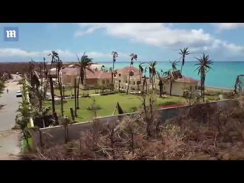 العرب اليوم - شاهد إعصار إيرما يدمر قصر الرئيس الأميركي ترامب