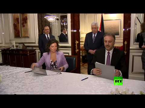 شاهد لحظة توقيع اتفاقية التعاون بين آرتي والهيئة العامة للتلفزيون الفلسطيني