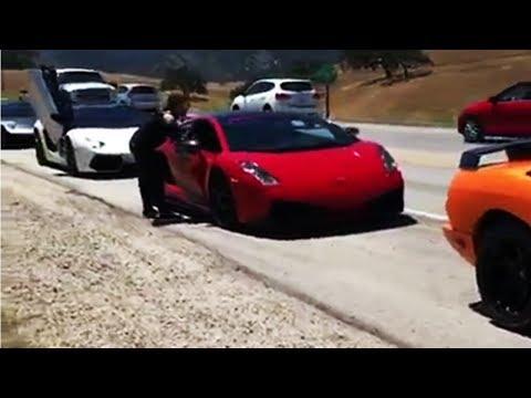 بالفيديو عرض مذهل لسيارات لامبورغيني المتنوعة