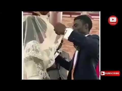 شاهد عريس يرى عروسه لأول مرة في الزفاف