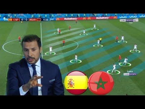 شاهد ما قاله المحللون بعد مباراة المغرب وإسبانيا