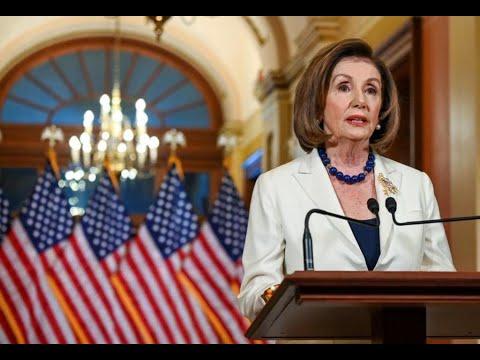 شاهد رئيسة الكونغرس الأميركي تطلب صياغة لوائح الاتهام بحق ترامب ضمن إجراءات العزل