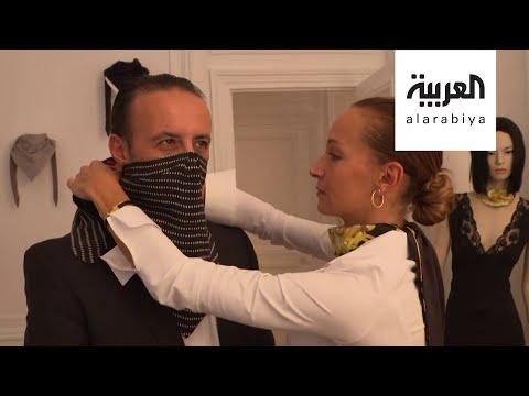 شاهد الكمامات على منصات الأزياء الباريسية
