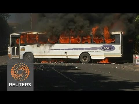 Arab Today, arab today bus burns students protest s africa tuition fees