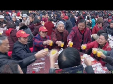 Arab Today, arab today 3800 seniors in sw china feast