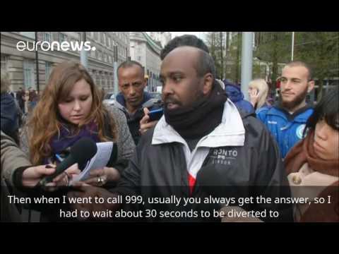 Arab Today, arab today zigzagged through street near uk parliament