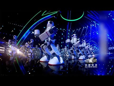 Arab Today, arab today 108 robots perform chinese kung fu