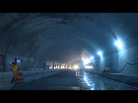 construction on world's largest highway tunnel completes