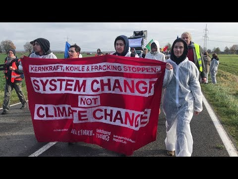 protesters march against coal ahead
