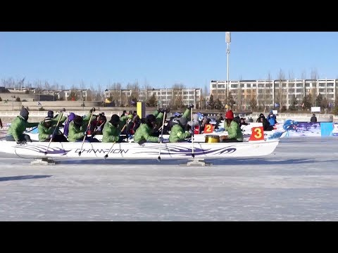 worlds first ice dragon boat championship opens