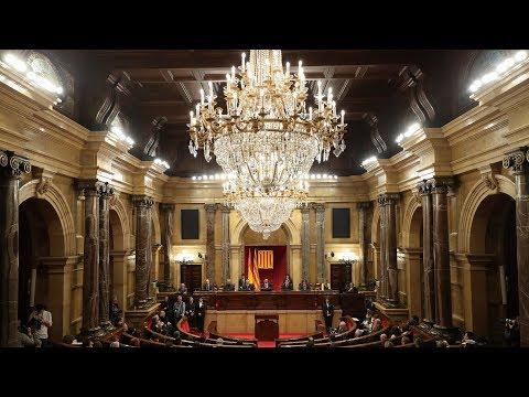catalan parliament meets
