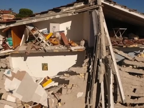 Arab Today, arab today drone footage shows italy earthquake damage