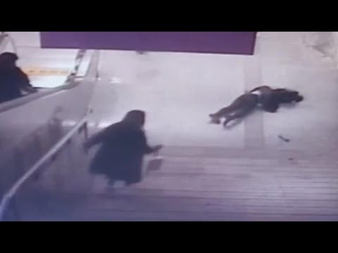 Arab Today, arab today woman glued to phone falls down flight of stairs