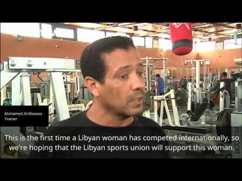 Arab Today, arab today libyas only female bodybuilder prepares