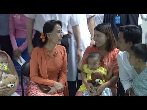 Arab Today, arab today aung san suu kyi visits myanmar children