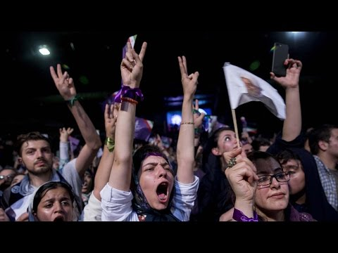 Arab Today, arab today iranians celebrate rouhani reelection