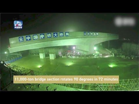 Arab Today, arab today 11000ton bridge section rotates 90 degrees