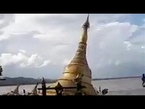 Arab Today, arab today flood swallows buddhist pagoda