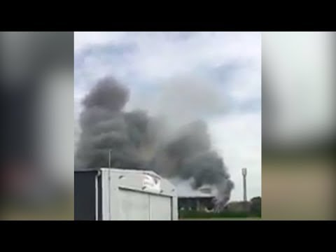 Arab Today, arab today huge fire at london southend airport hangar