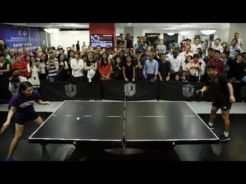 chinese table tennis players visit us