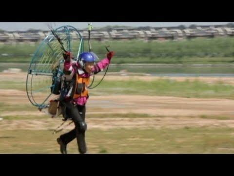 70yearold grandma defies age paraglides