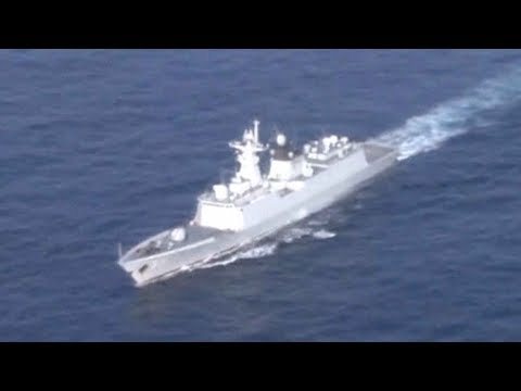 chinese missile frigate leaves