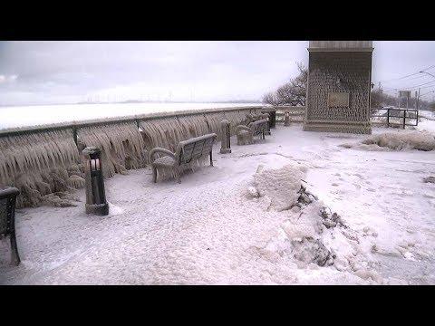 big freeze creates an icicle wonderland along lake erie