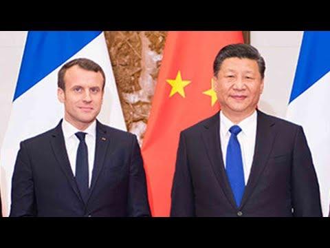 french president emmanuel macron wraps