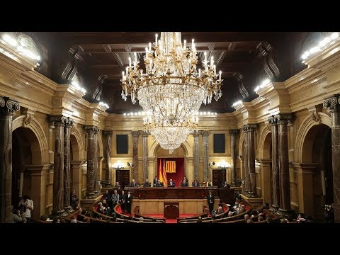 catalan parliament meets