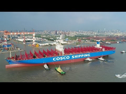 chinas first 20000 teu container ship