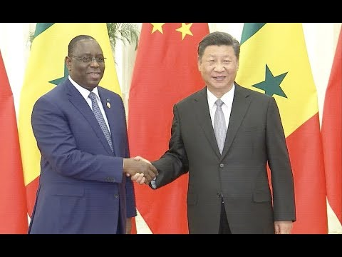 chinese president meets senegalese president
