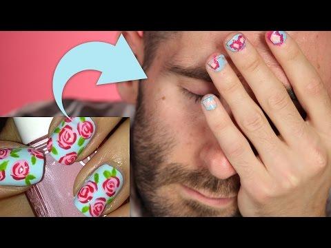 dudes try pinterest nail art